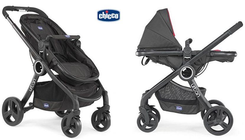 Chicco Urban Plus - Carrito transformable en capazo y silla de paseo