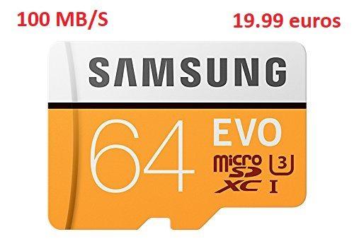 Samsung MicroSDXC EVO  64Gb 100Mb/s