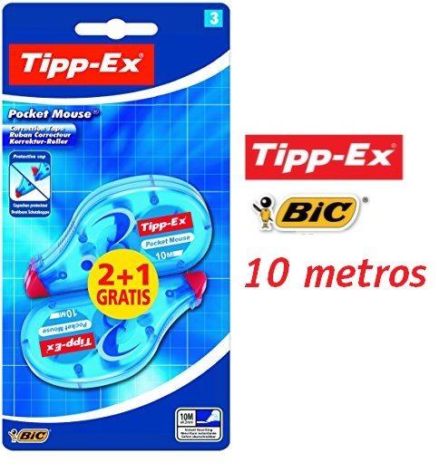 Pack de 3 corrector Tipp-Ex de 10 metros