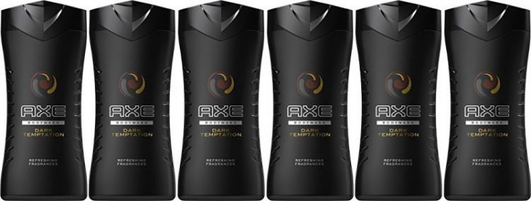Pack de 6 gel ducha Axe Dark temptation