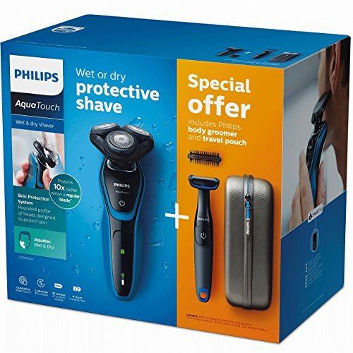 Afeitadora eléctrica Philips AquaTouch + Body Groomer