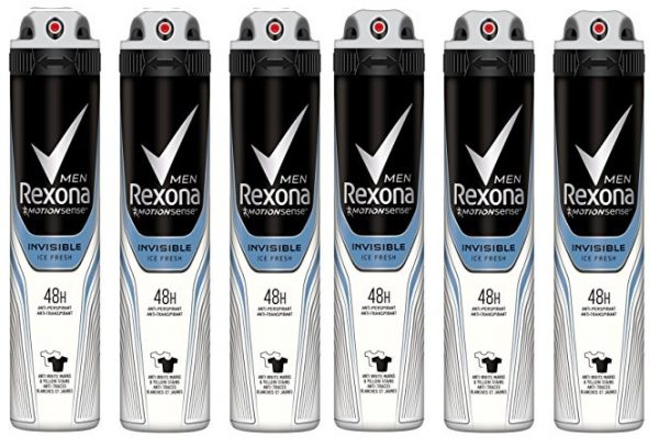 Pack de 6 Desodorante Rexona Men Invisible Ice Fresh de 200ml