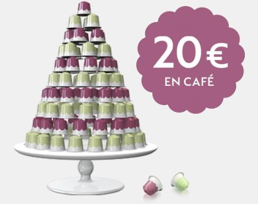 Promoción 20 euros en cápsulas de café