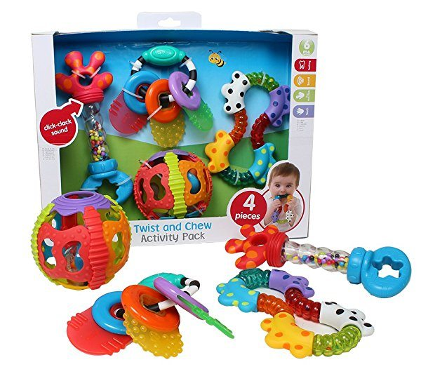 Set de juguetes PLAYGRO Twist And Chew Activity Pack