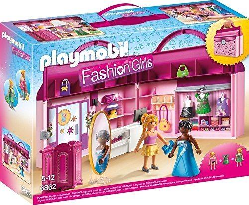 Maletín Playmobil tienda de moda