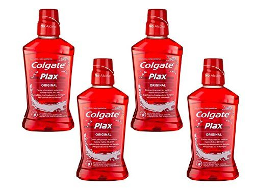 Colgate Plax Rojo Enjuague - Pack de 4 x 500 ml