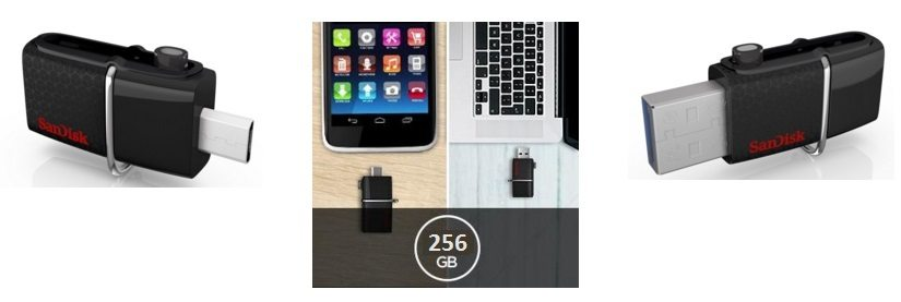 Memoria flash USB SanDisk Ultra Dual de 256 GB con USB 3.0 y hasta 150 MB/s