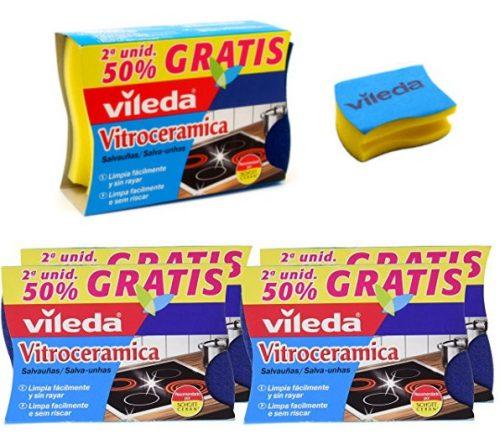 Pack de 4 Salvauñas VILEDA Vitroceramica Duplo