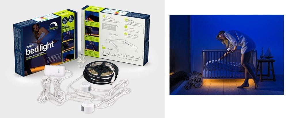 Mylight bed light tiras Led con Sensores de luz y movimiento