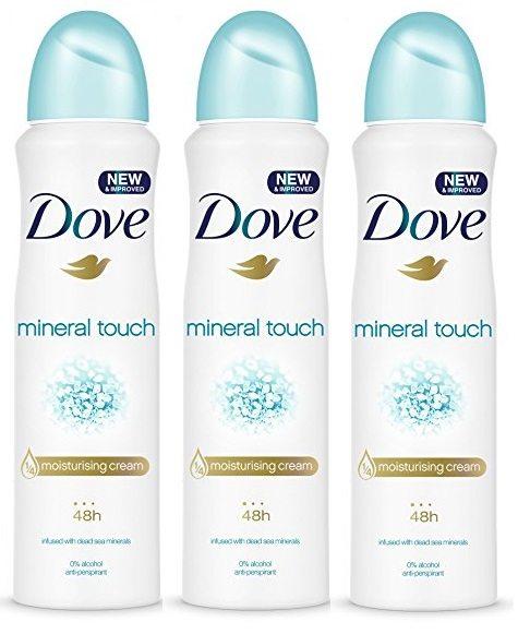 Pack de 3 desodorante DOVE Mineral Touch