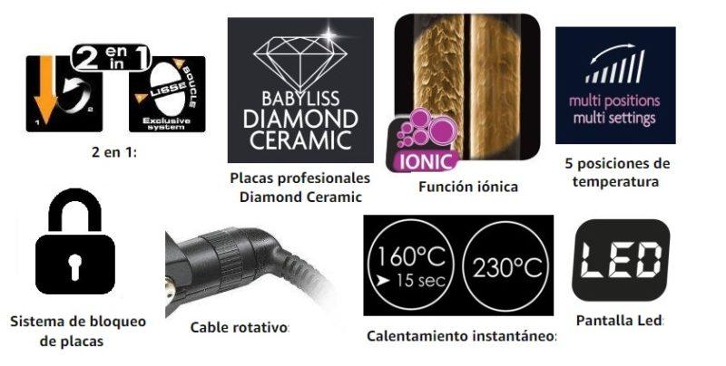 Características Plancha de pelo BaByliss Pure Metal ST481E profesional