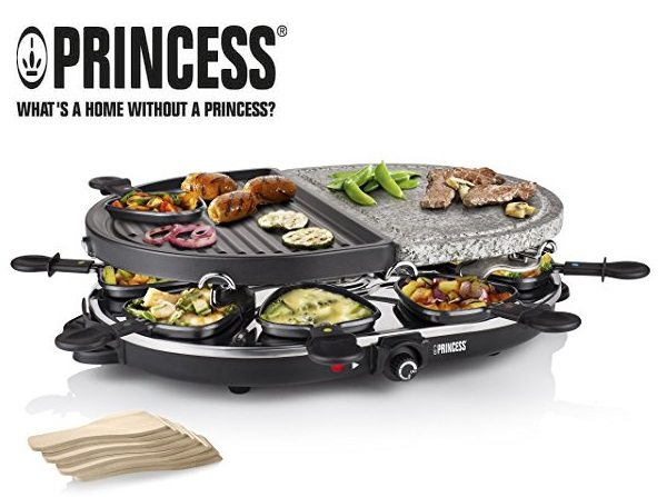 Raclette Princess 8 Oval Stone & Grill Party