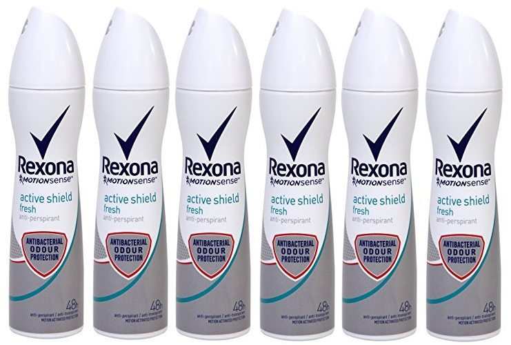 Pack de 6 Desodorante Rexona Active Shield Fresh