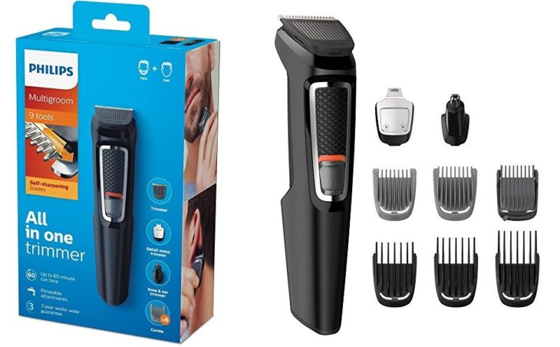 Multigroom Recortador de barba Philips MG3740/15 con 9 accesorios