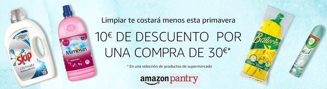 Amazon Pantry! 10€ de descuento por una compra de 30€ en Supermercado