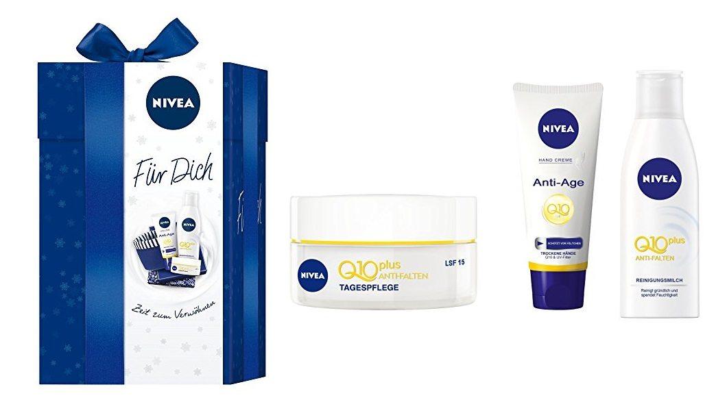 Set regalo Nivea Q10 con cesta de baño + 3 productos Q10Plus