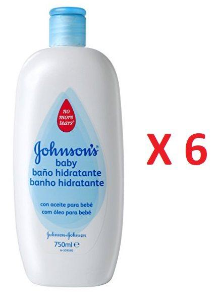 Pack de 6 Jabón Líquido Baño Hidratante Johnson's Baby