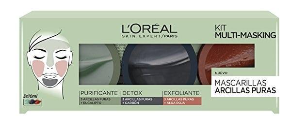Kit Multi-Masking con 3 Arcillas Puras