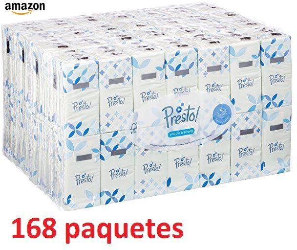 Marca Amazon - Presto! Pañuelos de 4 Capas - 168 Paquetes