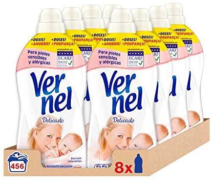 Pack de 8 Suavizante Vernel Delicado para 456 lavados
