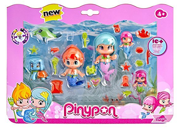 Pinypon - Sirenitas pack grande de 6 figuras (Famosa 700013480)