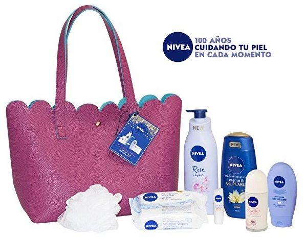 Bolso Nivea con productos para la piel