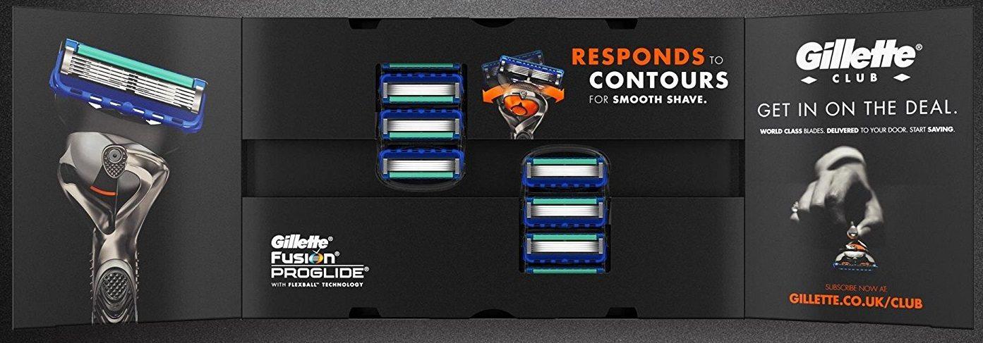 Gillette Fusion ProGlide - Cuchillas de recambio para maquinilla de afeitar