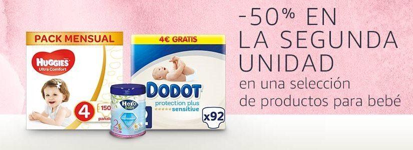 50% de descuento en la 2ª unidad en productos para bebé