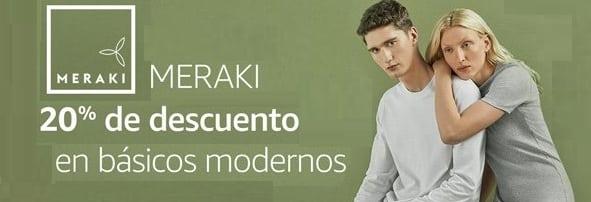 20% de descuento en ropa Meraki con el código 20MERAKI