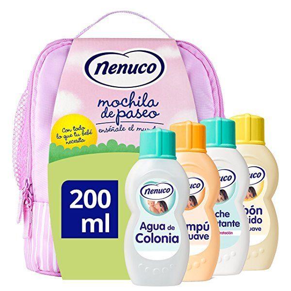 Nenuco pack regalo Bebé Mochila de Paseo 4 x 200ml