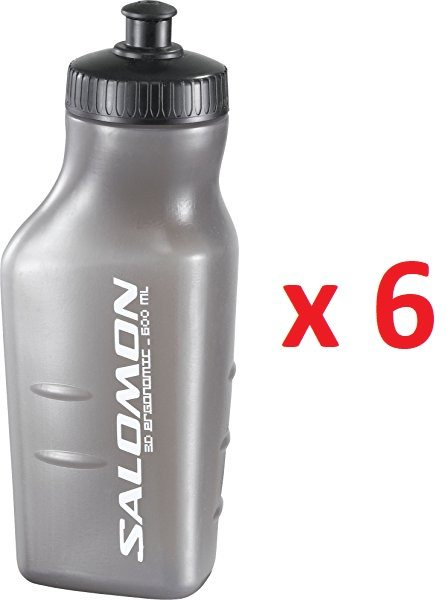 Pack de 6 Salomon Botella de agua, 3D BOTTLE, 600 ml.