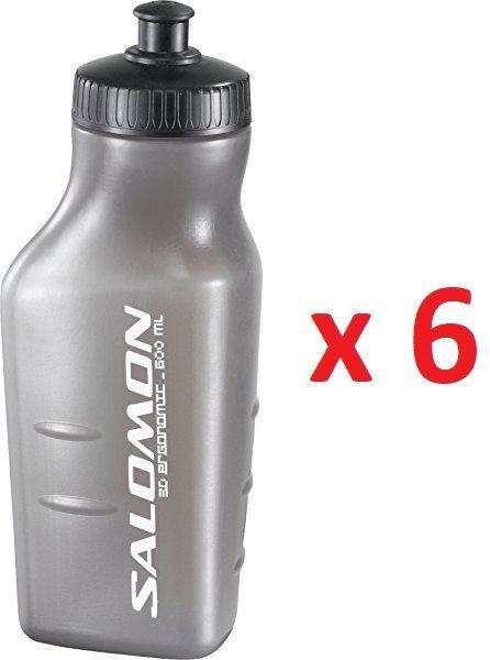 Pack de 6 Salomon Botella de agua, 3D BOTTLE, 600 ml.