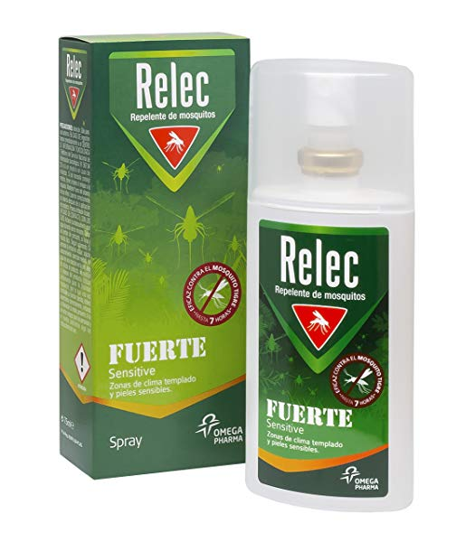 Relec Fuerte Familiar Sensitive Spray Antimosquitos - 75 ml