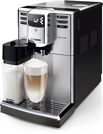 Philips Saeco HD8917/01 - Máquina de café espresso automática con jarra de leche integrada