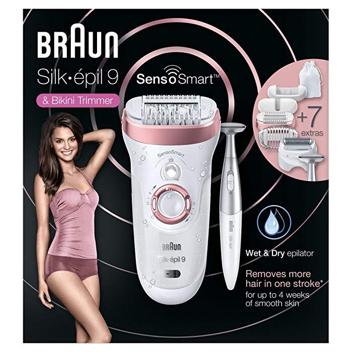 Depiladora inalámbrica Braun Silk-épil 9 SensoSmart 9 890