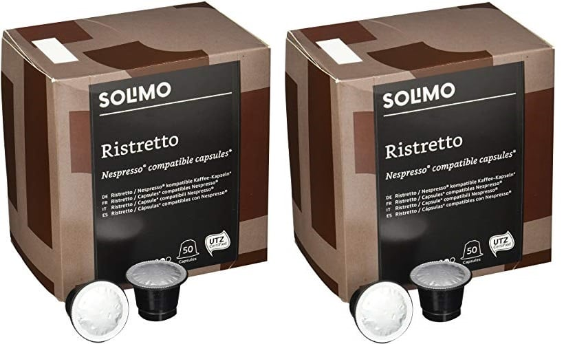 100 Cápsulas compatibles con Nespresso Solimo Ristretto