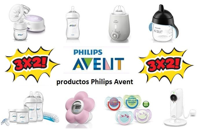 3x2 en una selección de Philips Avent