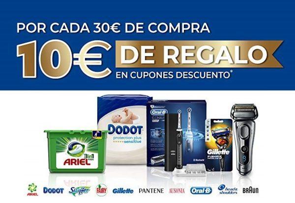 10€ de REGALO por cada 30€ de compra en una selección de productos en Amazon