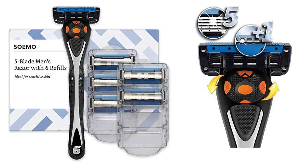 Amazon Solimo Maquinilla de afeitar + recambios