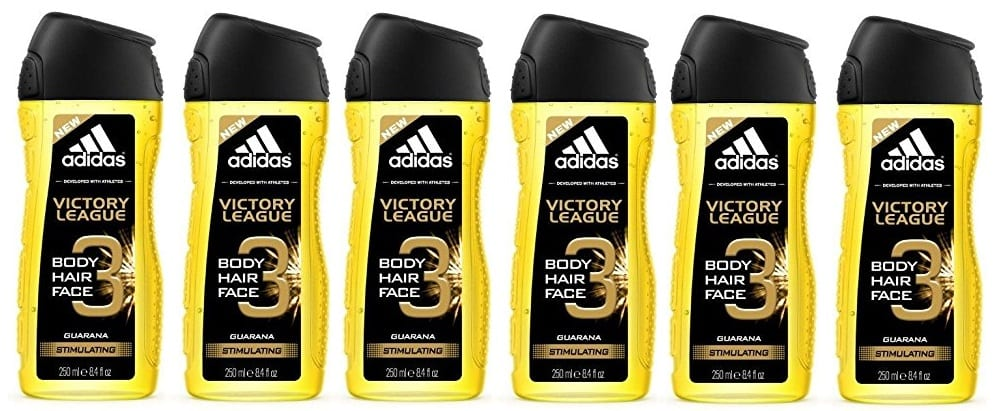 Pack 6 geles de ducha Adidas Victory League 250ml