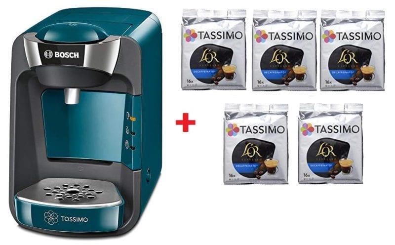 Pack Cafetera Tassimo Suny + 5 paquetes de cafés.