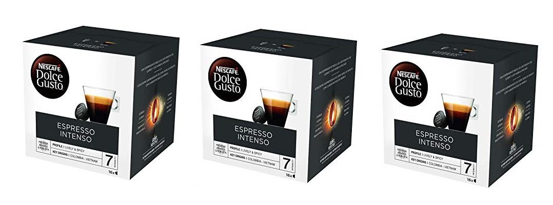 Pack de 3 Nescafé Dolce Gusto Espresso intenso