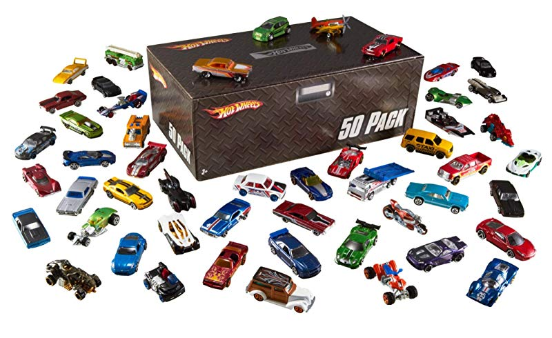 Pack de 50 Vehículos Hot Wheels de Mattel