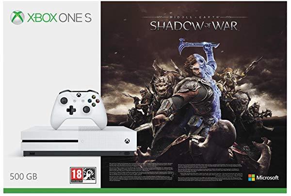 Consola Xbox One S + Sombras De Guerra + Game Pass (1 mes)
