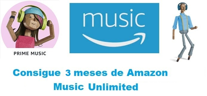 3 meses de Amazon Music Unlimited