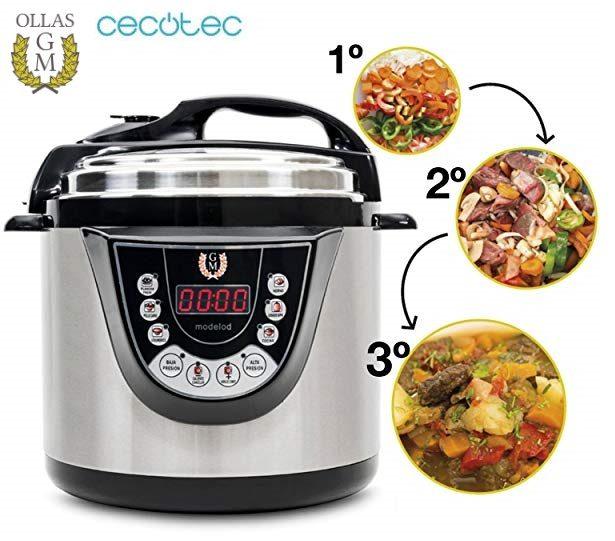Cecotec Ollas GM Modelo D - Robot de cocina programable