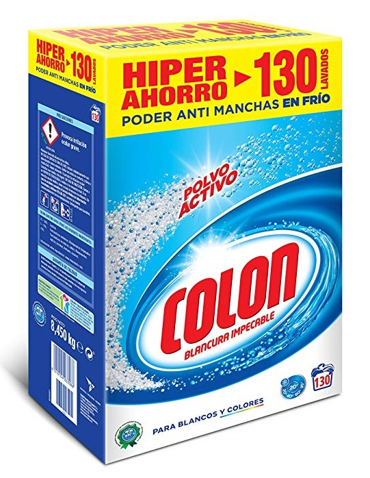 Detergente en polvo Colon para la lavadora 130 dosis