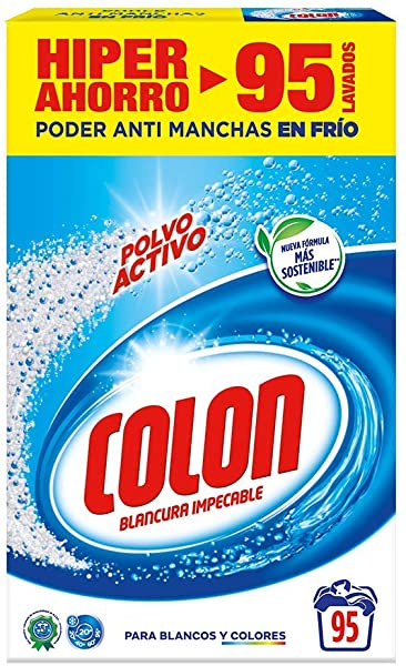 Detergente en polvo Colon para la lavadora
