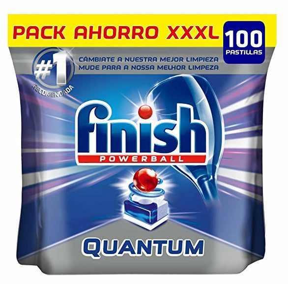 Finish Powerball Quantum para 100 lavados