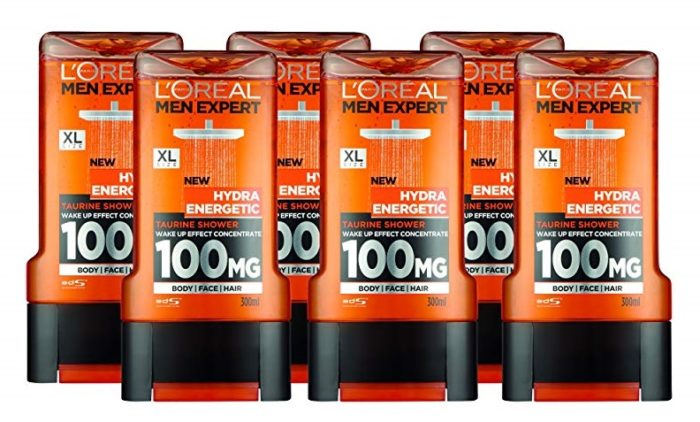 Pack de 6 L'Oreal Men Expert Hydra Energetic Gel de ducha Taurina